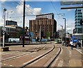 TQ3265 : Tram Lines near East Croydon Station by Paul Gillett