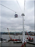 TQ3979 : River Thames from Cable Car at North Greenwich by Christine Matthews