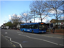 SK3950 : Bus at Ripley Market Place by Richard Vince