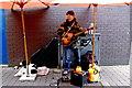 R3377 : Ennis - Arthur's Row - Street Musician with Dog by Joseph Mischyshyn