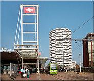 TQ3265 : No. 1 Croydon and Tram Stop by Des Blenkinsopp