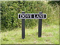 TG2800 : Dove Lane sign by Adrian Cable