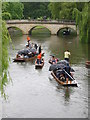 TL4458 : Summer 2012: punting in Cambridge by Christopher Hilton