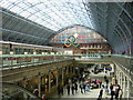 TQ3082 : St Pancras station: Olympic rings by Christopher Hilton