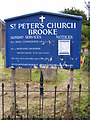 TM2999 : St.Peter's Church sign by Adrian Cable