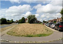 TQ8115 : Moor Road splits, Westfield, East Sussex by nick macneill