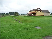 SJ5608 : Old and new at Viroconium / Wroxeter by Christine Johnstone