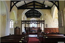 TF3093 : Interior, St Andrew's Church, Utterby by J.Hannan-Briggs