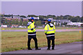 SU8653 : Security Staff, Farnborough Air Show 2012 by Christine Matthews