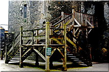 R4560 : Bunratty Folk Park - Site #4 - Castle Entrance Steps by Joseph Mischyshyn