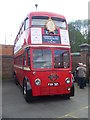 TQ1471 : Trolleybus 1521 (FXH 521) at Fulwell Bus Depot by David Hillas