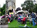 SJ6200 : Temporary stage within Wenlock Priory by Christine Johnstone