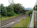 SO3210 : Stone bridge over the Welsh Marches railway, Penpergwm by Jaggery