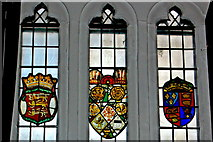 R4560 : Bunratty Castle - Main Guard - Stained Glass Windows by Joseph Mischyshyn