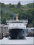 NM8529 : MV Isle Of Mull Docking At Oban Quay by James T M Towill