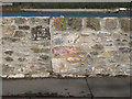 SX9272 : Detail of flood wall, Ringmore Road by Robin Stott