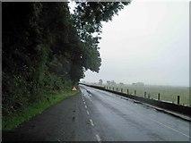 SH5840 : Flood sign on the A498 by Steve  Fareham