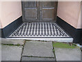 SX9373 : Tiled step, No 1, Exeter Street by Robin Stott
