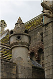 SK8572 : Chimney at Thorney Church  by Alan Murray-Rust