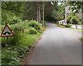 SO3004 : Humpback bridge ahead, Old Abergavenny Road north of Mamhilad by Jaggery