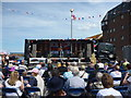 NT6879 : Dunbar Lifeboat Day - 21st July 2012 : Nice Hat! by Richard West
