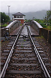 NN1176 : Railway swing bridge and signal box, Banavie by Ian Taylor