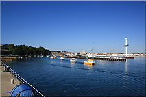 SY6878 : Weymouth harbour entrance by John Stephen