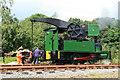 SJ9744 : Foxfield Railway - crane tank by Chris Allen