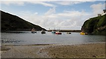 SW9980 : Port Isaac Harbour from Slipway by Ian Knight