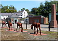 SO2409 : Cast iron pit ponies, Blaenavon Ironworks by Jaggery