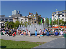 SJ8498 : Piccadilly Gardens, Manchester by David Dixon