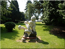 ST2995 : Statue in the grounds of Llantarnam Grange Arts Centre, Cwmbran by Jaggery