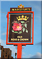 SO8170 : The Old Rose & Crown (2) - sign, Worcester Road, Stourport-on-Severn by P L Chadwick