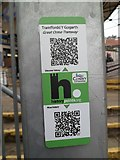 SH7782 : HiPoints information QR code at  the Great Orme Tramway station, Llandudno by Meirion