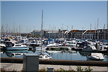 SY6778 : Boats moored in Weymouth Harbour. by John Stephen