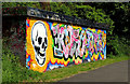 J3470 : Graffiti, Lagan towpath, Belfast (July 2012) by Albert Bridge