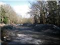 SX8275 : Stockpiled roadstone near Drum Bridge by Robin Stott