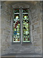 TL1097 : Church of St Remigius, Water Newton, Stained glass window by Alexander P Kapp