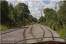 SK3455 : Looking South Along Crich Tramway by Mark Anderson