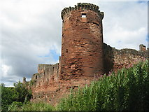 NS6859 : Bothwell Castle, from the southeast by M J Richardson