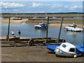 TF9243 : Boat launching winch at Wells-Next-The-Sea by Richard Humphrey