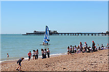 TQ8109 : Pelham Beach and Hastings Pier by Oast House Archive