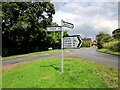 SJ4462 : Road Sign and Junction at Saighton by Jeff Buck