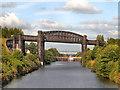 SJ6387 : Manchester Ship Canal, Latchford Viaduct and Locks by David Dixon