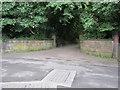 SJ3885 : Former gateway to 'The Beach' by John S Turner