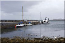 M2208 : Boats at the old pier, Ballyvaughan, Co. Clare by P L Chadwick