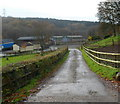 ST2086 : Access lane to Cwm Farm near Rudry by Jaggery