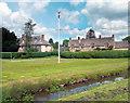 SP2422 : Bledington Flagpole by Des Blenkinsopp