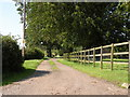 TM0488 : Restricted bridleway by Lime Kiln Farm by Robert Edwards