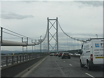NT1279 : Forth Road Bridge, south tower by M J Richardson
